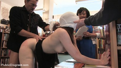 Photo number 6 from Redheaded bookworm gets humiliated and fucked in a bookstore! shot for Public Disgrace on Kink.com. Featuring Amber Keen and Randy Spears in hardcore BDSM & Fetish porn.