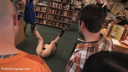 Photo number 8 from Redheaded bookworm gets humiliated and fucked in a bookstore! shot for Public Disgrace on Kink.com. Featuring Amber Keen and Randy Spears in hardcore BDSM & Fetish porn.