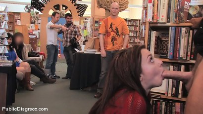 Photo number 5 from Redheaded bookworm gets humiliated and fucked in a bookstore! shot for Public Disgrace on Kink.com. Featuring Amber Keen and Randy Spears in hardcore BDSM & Fetish porn.