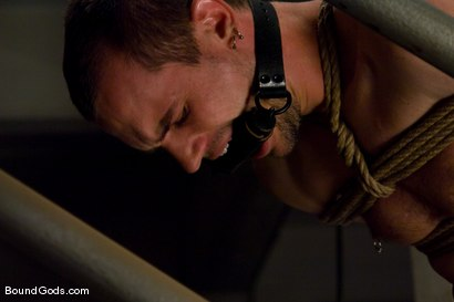 Photo number 12 from The Runaway Slave shot for Bound Gods on Kink.com. Featuring Chad Manning and Kain Warn in hardcore BDSM & Fetish porn.