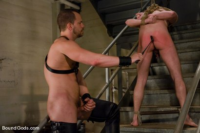 Photo number 10 from The Runaway Slave shot for Bound Gods on Kink.com. Featuring Chad Manning and Kain Warn in hardcore BDSM & Fetish porn.