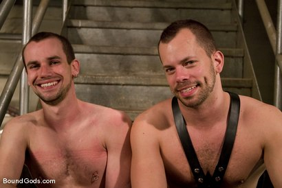 Photo number 15 from The Runaway Slave shot for Bound Gods on Kink.com. Featuring Chad Manning and Kain Warn in hardcore BDSM & Fetish porn.