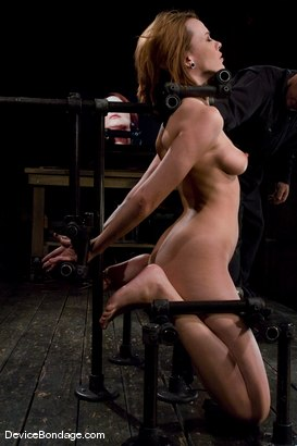 Photo number 2 from Dana DeArmond  Immobile, unable to stop  the hard cock from face fucking her skull shot for devicebondage on Kink.com. Featuring Maestro and Dana DeArmond in hardcore BDSM & Fetish porn.