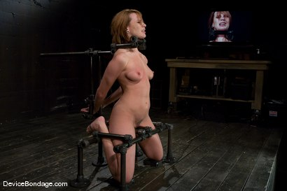 Photo number 13 from Dana DeArmond  Immobile, unable to stop  the hard cock from face fucking her skull shot for devicebondage on Kink.com. Featuring Maestro and Dana DeArmond in hardcore BDSM & Fetish porn.