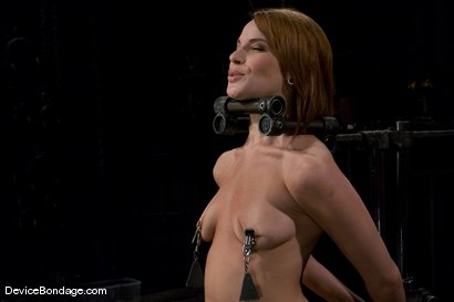Photo number 3 from Dana DeArmond<br>Immobile, unable to stop <br>the hard cock from face fucking her skull shot for Device Bondage on Kink.com. Featuring Maestro and Dana DeArmond in hardcore BDSM & Fetish porn.