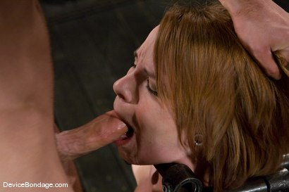 Photo number 8 from Dana DeArmond<br>Immobile, unable to stop <br>the hard cock from face fucking her skull shot for Device Bondage on Kink.com. Featuring Maestro and Dana DeArmond in hardcore BDSM & Fetish porn.