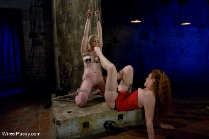 Photo number 9 from Blonde vs. Redhead shot for Wired Pussy on Kink.com. Featuring Sabrina Fox and Lorelei Lee in hardcore BDSM & Fetish porn.