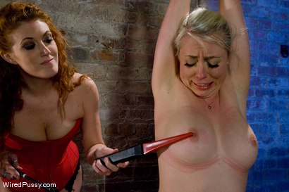 Photo number 11 from Blonde vs. Redhead shot for Wired Pussy on Kink.com. Featuring Sabrina Fox and Lorelei Lee in hardcore BDSM & Fetish porn.