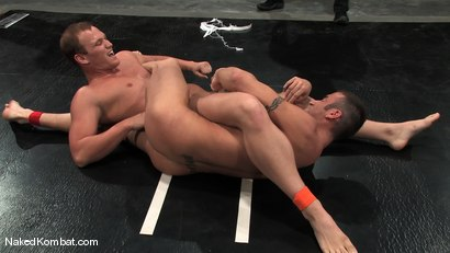 Photo number 6 from Spencer Reed vs Dustin Michaels & Karter James shot for Naked Kombat on Kink.com. Featuring Dustin Michaels, Karter James and Spencer Reed in hardcore BDSM & Fetish porn.