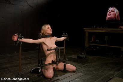 Photo number 12 from Calico <br> Impaled on an electrified <br>dildo and made to orgasm. shot for Device Bondage on Kink.com. Featuring Calico in hardcore BDSM & Fetish porn.