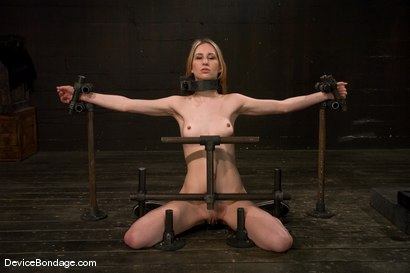 Photo number 2 from Calico <br> Impaled on an electrified <br>dildo and made to orgasm. shot for Device Bondage on Kink.com. Featuring Calico in hardcore BDSM & Fetish porn.