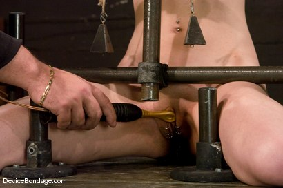 Photo number 8 from Calico <br> Impaled on an electrified <br>dildo and made to orgasm. shot for Device Bondage on Kink.com. Featuring Calico in hardcore BDSM & Fetish porn.