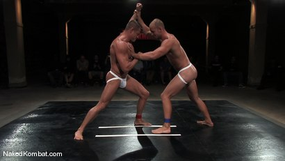Photo number 3 from Patrick Rouge vs Tyler Saint   The Live Audience & Oil Match shot for Naked Kombat on Kink.com. Featuring Patrick Rouge and Tyler Saint in hardcore BDSM & Fetish porn.