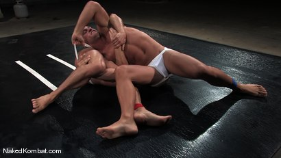 Photo number 4 from Patrick Rouge vs Tyler Saint<br />The Live Audience & Oil Match shot for Naked Kombat on Kink.com. Featuring Patrick Rouge and Tyler Saint in hardcore BDSM & Fetish porn.