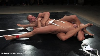 Photo number 5 from Patrick Rouge vs Tyler Saint   The Live Audience & Oil Match shot for Naked Kombat on Kink.com. Featuring Patrick Rouge and Tyler Saint in hardcore BDSM & Fetish porn.