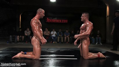 Photo number 1 from Patrick Rouge vs Tyler Saint   The Live Audience & Oil Match shot for Naked Kombat on Kink.com. Featuring Patrick Rouge and Tyler Saint in hardcore BDSM & Fetish porn.
