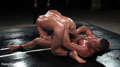 Photo number 11 from Patrick Rouge vs Tyler Saint   The Live Audience & Oil Match shot for Naked Kombat on Kink.com. Featuring Patrick Rouge and Tyler Saint in hardcore BDSM & Fetish porn.
