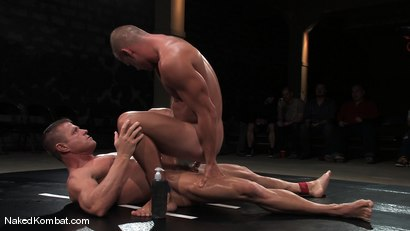 Photo number 14 from Patrick Rouge vs Tyler Saint<br />The Live Audience & Oil Match shot for Naked Kombat on Kink.com. Featuring Patrick Rouge and Tyler Saint in hardcore BDSM & Fetish porn.