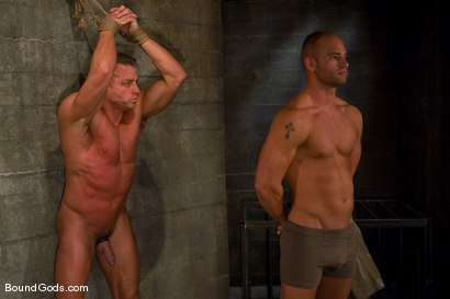 Photo number 1 from Training for TheUpperFloor.com: Part Two shot for Bound Gods on Kink.com. Featuring Patrick Rouge, Tyler Saint and Van Darkholme in hardcore BDSM & Fetish porn.