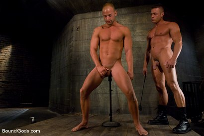 Photo number 10 from Training for TheUpperFloor.com: Part Two shot for Bound Gods on Kink.com. Featuring Patrick Rouge, Tyler Saint and Van Darkholme in hardcore BDSM & Fetish porn.