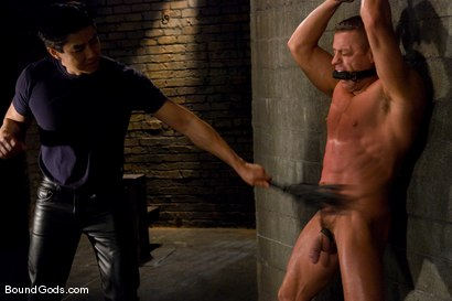 Photo number 2 from Training for TheUpperFloor.com: Part Two shot for Bound Gods on Kink.com. Featuring Patrick Rouge, Tyler Saint and Van Darkholme in hardcore BDSM & Fetish porn.