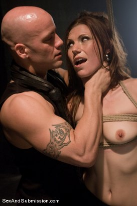 Photo number 1 from Delilah's First Time shot for Sex And Submission on Kink.com. Featuring Derrick Pierce and Delilah Knight in hardcore BDSM & Fetish porn.