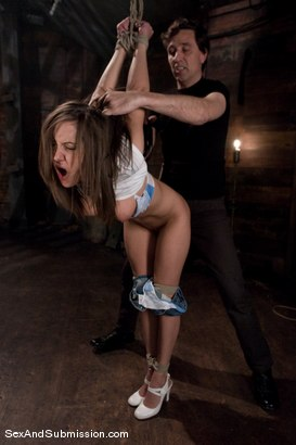 Photo number 3 from Freckles shot for Sex And Submission on Kink.com. Featuring Steve Holmes and Kiera King in hardcore BDSM & Fetish porn.