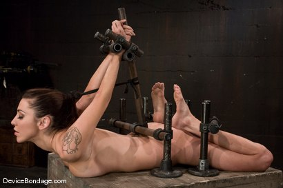 Photo number 2 from Princess Donna<br>Trapped in a hard metal hogtie<br>finger fucked to orgasm shot for Device Bondage on Kink.com. Featuring Princess Donna Dolore in hardcore BDSM & Fetish porn.