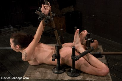 Photo number 9 from Princess Donna<br>Trapped in a hard metal hogtie<br>finger fucked to orgasm shot for Device Bondage on Kink.com. Featuring Princess Donna Dolore in hardcore BDSM & Fetish porn.