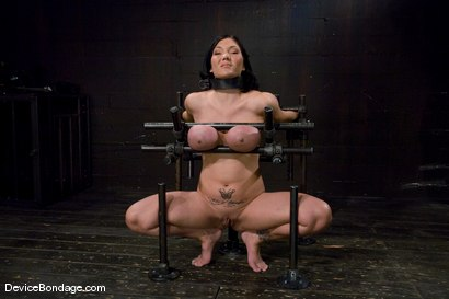 Photo number 2 from Claire Dames<br>  Huge tits brutally bound in metal<br>helpless to stop the pain or pleasure. shot for Device Bondage on Kink.com. Featuring Claire Dames in hardcore BDSM & Fetish porn.
