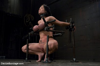 Photo number 14 from Claire Dames<br>  Huge tits brutally bound in metal<br>helpless to stop the pain or pleasure. shot for Device Bondage on Kink.com. Featuring Claire Dames in hardcore BDSM & Fetish porn.
