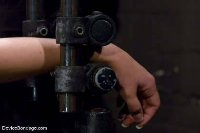 Photo number 4 from Claire Dames   Huge tits brutally bound in metal   helpless to stop the pain or pleasure. shot for Device Bondage on Kink.com. Featuring Claire Dames in hardcore BDSM & Fetish porn.