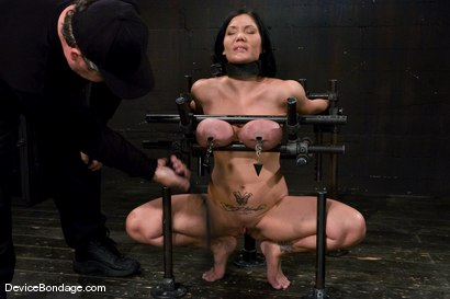Photo number 9 from Claire Dames<br>  Huge tits brutally bound in metal<br>helpless to stop the pain or pleasure. shot for Device Bondage on Kink.com. Featuring Claire Dames in hardcore BDSM & Fetish porn.