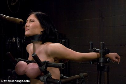 Photo number 3 from Claire Dames<br>  Huge tits brutally bound in metal<br>helpless to stop the pain or pleasure. shot for Device Bondage on Kink.com. Featuring Claire Dames in hardcore BDSM & Fetish porn.