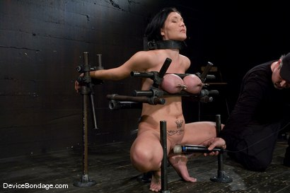 Photo number 7 from Claire Dames<br>  Huge tits brutally bound in metal<br>helpless to stop the pain or pleasure. shot for Device Bondage on Kink.com. Featuring Claire Dames in hardcore BDSM & Fetish porn.