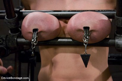 Photo number 8 from Claire Dames<br>  Huge tits brutally bound in metal<br>helpless to stop the pain or pleasure. shot for Device Bondage on Kink.com. Featuring Claire Dames in hardcore BDSM & Fetish porn.