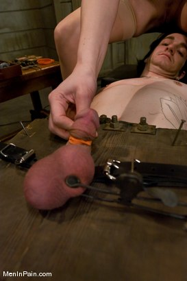 Photo number 14 from The Training of Kade, Day One shot for Men In Pain on Kink.com. Featuring Kade and Maitresse Madeline Marlowe in hardcore BDSM & Fetish porn.