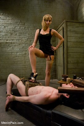 Photo number 4 from The Training of Kade, Day One shot for Men In Pain on Kink.com. Featuring Kade and Maitresse Madeline Marlowe in hardcore BDSM & Fetish porn.