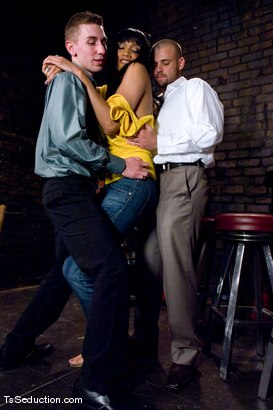 Photo number 1 from Yasmin Lee - Threesome shot for TS Seduction on Kink.com. Featuring Yasmin Lee, Jake and Kyle in hardcore BDSM & Fetish porn.