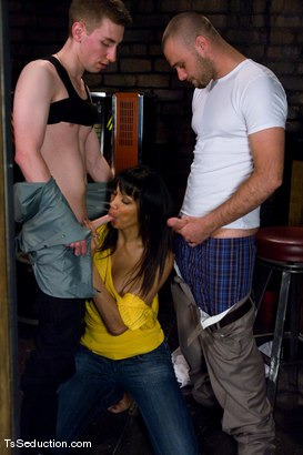 Photo number 3 from Yasmin Lee - Threesome shot for TS Seduction on Kink.com. Featuring Yasmin Lee, Jake and Kyle in hardcore BDSM & Fetish porn.