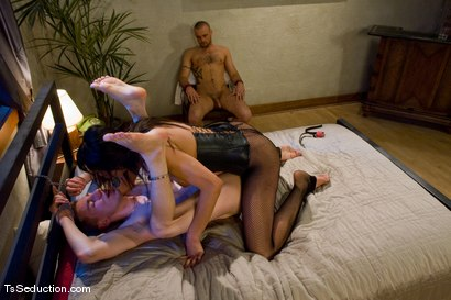 Photo number 10 from Yasmin Lee - Threesome shot for TS Seduction on Kink.com. Featuring Yasmin Lee, Jake and Kyle in hardcore BDSM & Fetish porn.