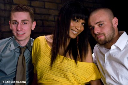 Photo number 15 from Yasmin Lee - Threesome shot for TS Seduction on Kink.com. Featuring Yasmin Lee, Jake and Kyle in hardcore BDSM & Fetish porn.