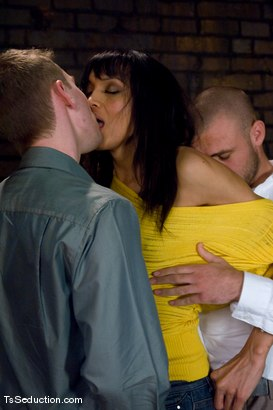 Photo number 2 from Yasmin Lee - Threesome shot for TS Seduction on Kink.com. Featuring Yasmin Lee, Jake and Kyle in hardcore BDSM & Fetish porn.
