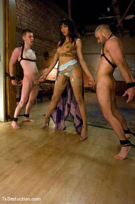 Photo number 8 from Yasmin Lee - Threesome part 2 shot for TS Seduction on Kink.com. Featuring Yasmin Lee, Jake and Kyle in hardcore BDSM & Fetish porn.