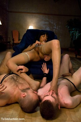 Photo number 14 from Yasmin Lee - Threesome part 2 shot for TS Seduction on Kink.com. Featuring Yasmin Lee, Jake and Kyle in hardcore BDSM & Fetish porn.
