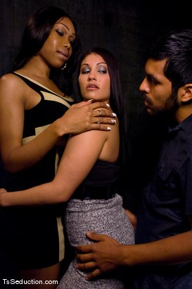 Photo number 1 from Sexy Jade and Jade - so you wanna watch? shot for TS Seduction on Kink.com. Featuring Sexy Jade, Miss Jade Indica and Pancho Santos in hardcore BDSM & Fetish porn.