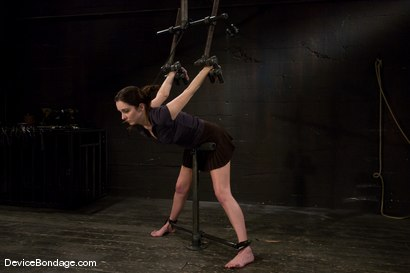 Photo number 1 from Winter Sky  Local girl next door trapped in  a brutal metal stappado. shot for Device Bondage on Kink.com. Featuring Winter Sky in hardcore BDSM & Fetish porn.