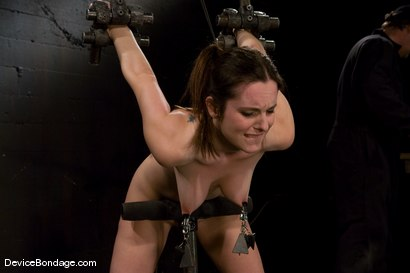 Photo number 14 from Winter Sky  Local girl next door trapped in  a brutal metal stappado. shot for Device Bondage on Kink.com. Featuring Winter Sky in hardcore BDSM & Fetish porn.