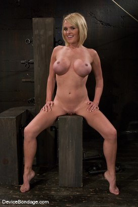 Photo number 11 from Krissy Lynn<br> Hot Californian blond, faces orgasm overload! shot for Device Bondage on Kink.com. Featuring Krissy Lynn in hardcore BDSM & Fetish porn.