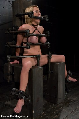 Photo number 14 from Krissy Lynn<br> Hot Californian blond, faces orgasm overload! shot for Device Bondage on Kink.com. Featuring Krissy Lynn in hardcore BDSM & Fetish porn.